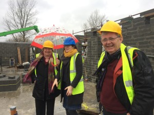 Eileen Brophy, Chairperson Tinteán, Emma Geoghegan, architect Meme Architecture and Frank Comerford Treasurer Tinteán on a recent site visit.