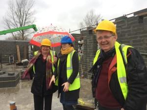 Eileen Brophy, Chairperson Tinteán, Emma Geoghegan, architect Meme Architecture and Frank Comerford Treasurer Tinteán on a recent site visit.